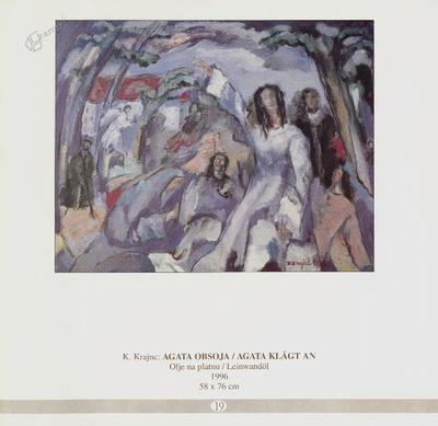 Agata obsoja, olje na platnu - 1996, 58 x 76 cm