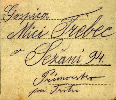 Dopisnica, 12. 2. 1917