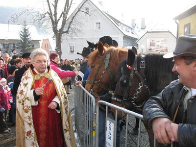 Žegnanje konjev v Laškem