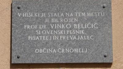 Spominska plošča v spomin Vinka Beličiča