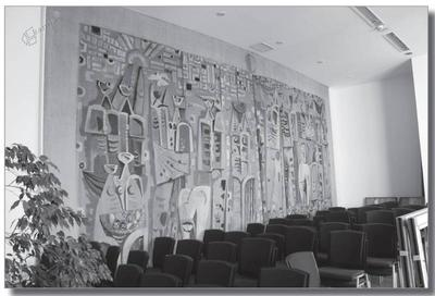Marij Pregelj, tapiserija Belo mesto, 400 x 750 cm