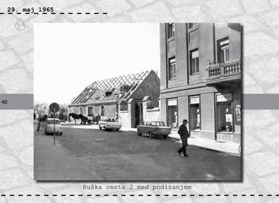 Maribor - Ruška cesta 2 med podiranjem