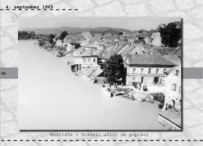 Maribor - mostišče v Dravski ulici ob poplavi