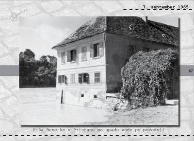 Maribor - hiša Benetke v Pristanu po upadu vode po povodnji