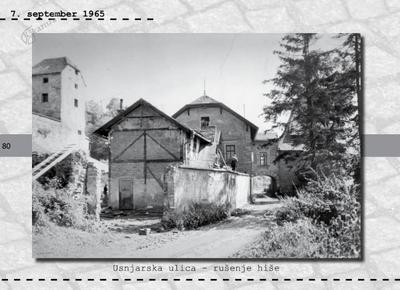 Maribor - Usnjarska ulica, rušenje hiše