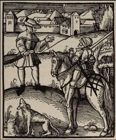 Kmet in vitez med pogovorom