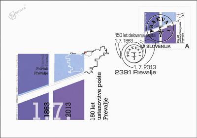 150 let ustanovitve pošte Prevalje, 1863-2013