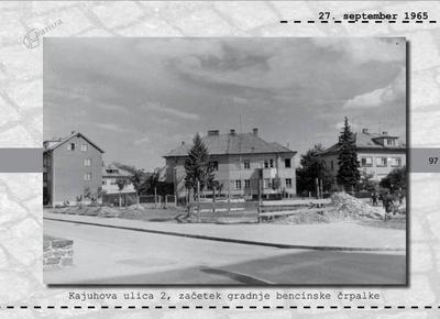 Maribor - Kajuhova ulica 2, začetek gradnje bencinske črpalke