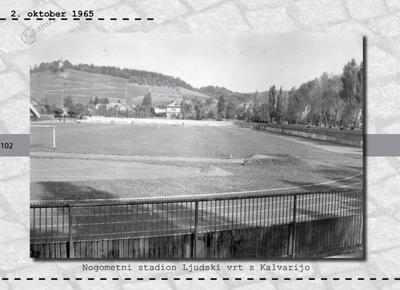 Maribor - nogometni stadion Ljudski vrt s Kalvarijo