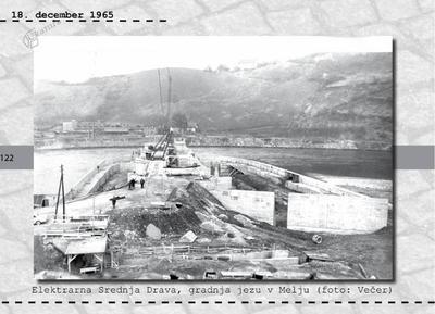 Maribor - Elektrarna Srednja Drava, gradnja jezu v Melju