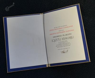 Srebrna plaketa Društva novinarjev Slovenije
