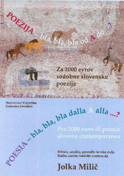 Naslovnica antologije Poezija - bla, bla, bla od A do ...?