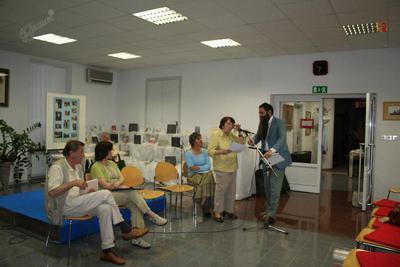 Jolka na literarnem večeru članov Združenja književnikov Primors