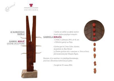 Razstava lesenih skulptur Gabriela Berliča - vabilo