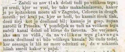 1863 v Ljubljani polagajo nov tlak in kopljejo kanale