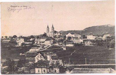 Razglednica Zagorje ob Savi, l. 1925