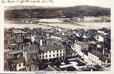 Capodistria e le ex saline viste dall'alto, cca 1900