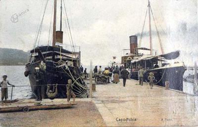 Capodistria - Il porto, 1910