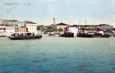 Capodistria - Il porto, att. 1910