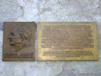Spominska plošča Franceta Adamiča