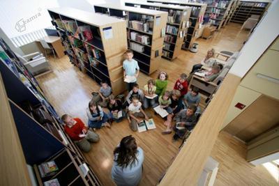 Obiski osnovnošolcev v Mestni knjižnici Grosuplje