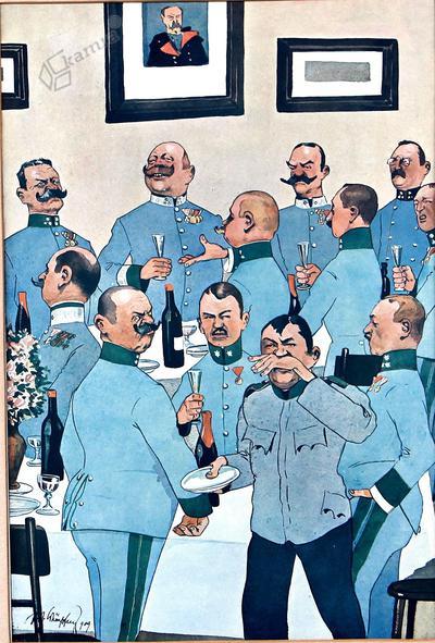 Karikatura avstro-ogrskih oficirjev