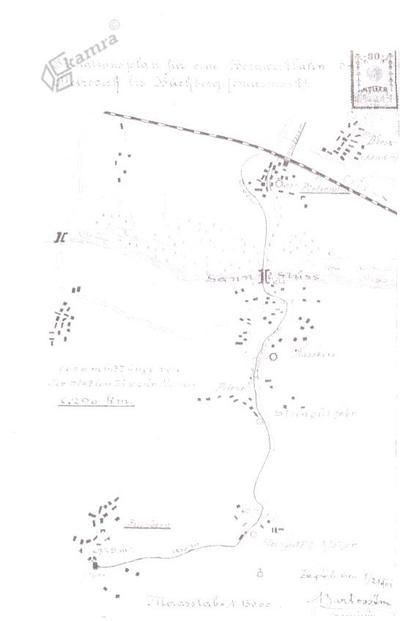 Načrt načrtovane proge Petrovče - Zabukovica