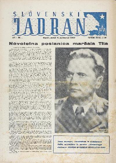Slovenski Jadran - naslovnica