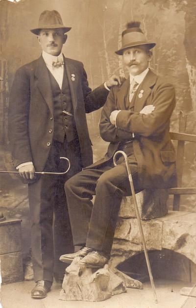 Franc Antolinc s prijateljem