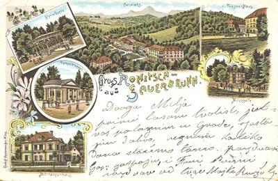 Razglednica: Gruss aus Rohitsch - Sauerbrunn. Poslana leta 1897.