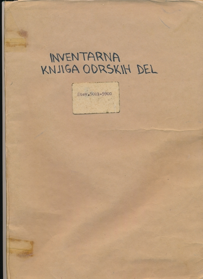 Inventarna knjiga odrskih del Knjižnice Brežice