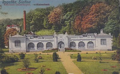 Razglednica: Rogaška Slatina. Natisnjena 1917-18, poslana leta 1921.