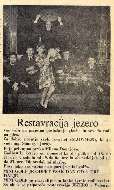 Reklamni oglas za velenjsko restavracijo Jezero