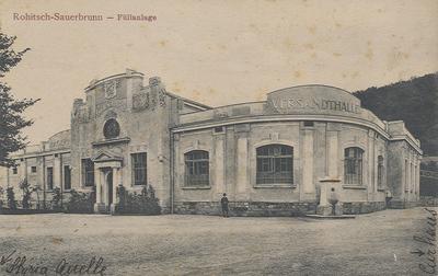 Razglednica: Rohitsch-Sauerbrunn - Füllanlage. Natisnjena ok. 1910.