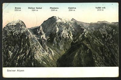 Pogled na Kamniške Alpe