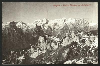 Pogled z Velike planine na Grintavce