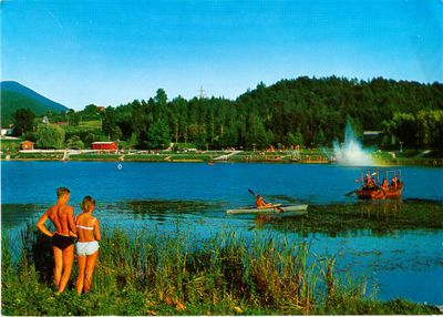 Razglednica Škalskega jezera