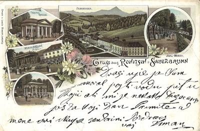 Razglednica: Gruss aus Rohitsch - Sauerbrunn. Poslana leta 1903.
