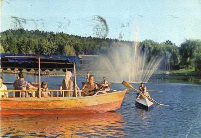 Razglednica Velenjskega jezera