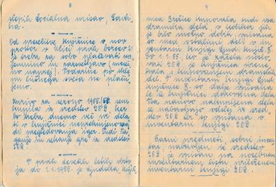 Zapis iz 1. zvezka kronike brežiške knjižnice