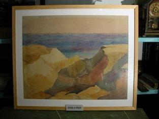 Akvarel, eroderet klint, 1921