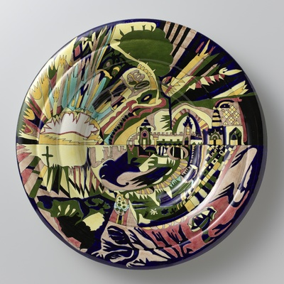 Decorative plate with the 'Constantinople' pattern