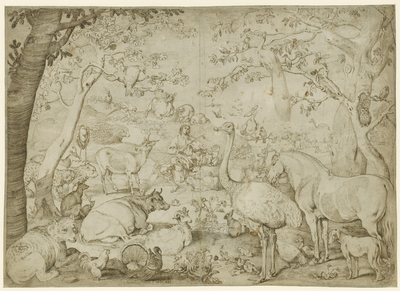 Orpheus Charming the Animals in a Landscape