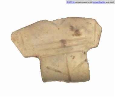 Γυναικείο, σανιδόμορφο ειδωλίο [Λ 1055]
