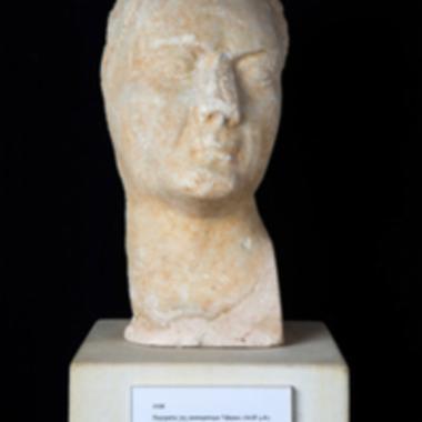 Εικονιστική μαρμάρινη κεφαλή του Τιβερίου [Λ 138]
