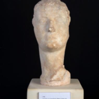 Εικονιστική, μαρμάρινη κεφαλή του αυτοκράτορα Τιβερίου [Λ 139]