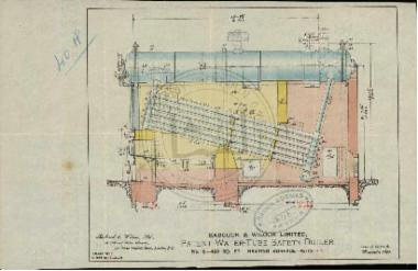 Patent water tube safety boiler