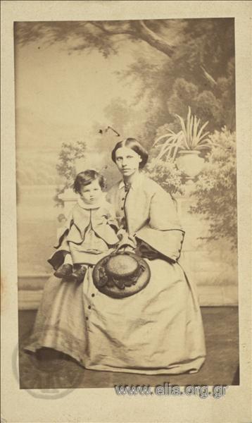 Η Anna Fay  και ο γιος της, μωρό.
