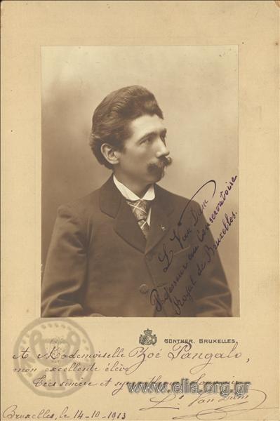 L. Van Dam, καθηγητής στο βασιλικό ωδείο των Βρυξελλών.