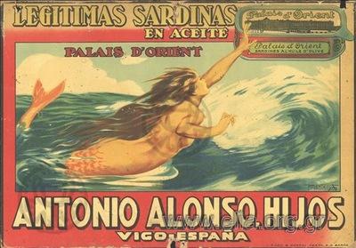 Legitimas sardinas en acete/ Palais d' orient/ Antonio Alonso & Hijos/ Vigo, España